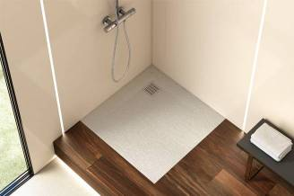 Terran shower tray with off white finish
