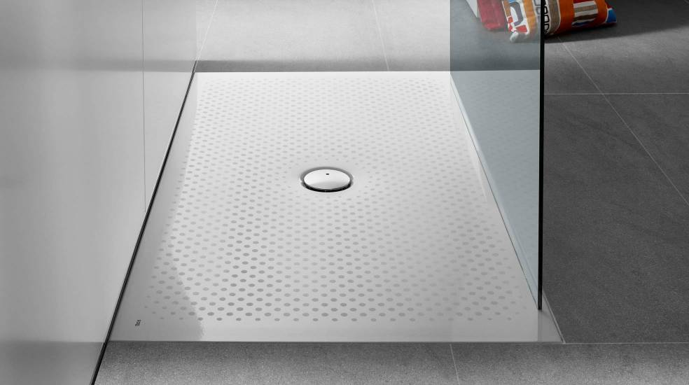 Steel shower tray by Roca