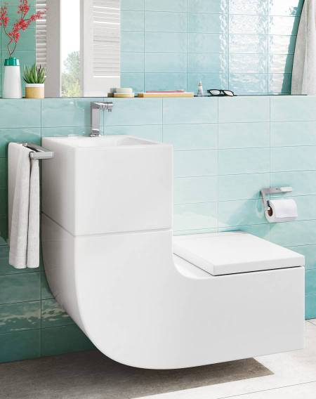 W+W Basin and WC in one single piece